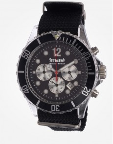 Antartic Chronograaf Black Canvas